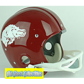 Old Ghost Collectibles Arkansas Razorbacks Throwback Football Helmet 1964 1966 163 99 Http Ww Football Helmets Vintage Football College Football Helmets