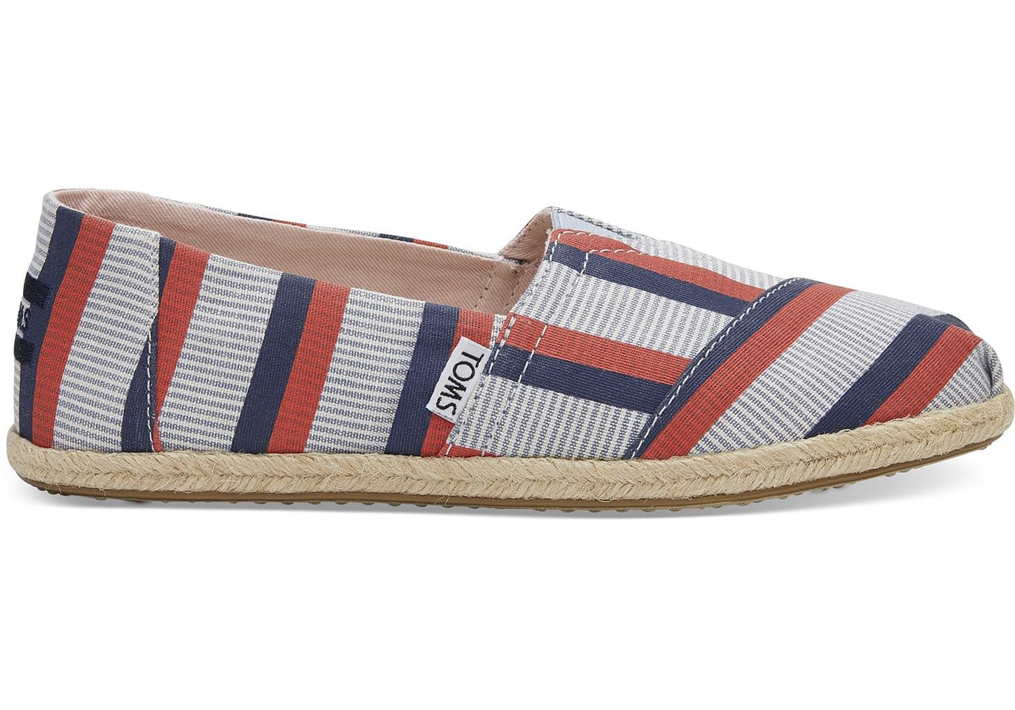 Clare V. Red Navy Stripe Women s Classics   TOMS®   Size 9.5   Just ... d9604fb9f1