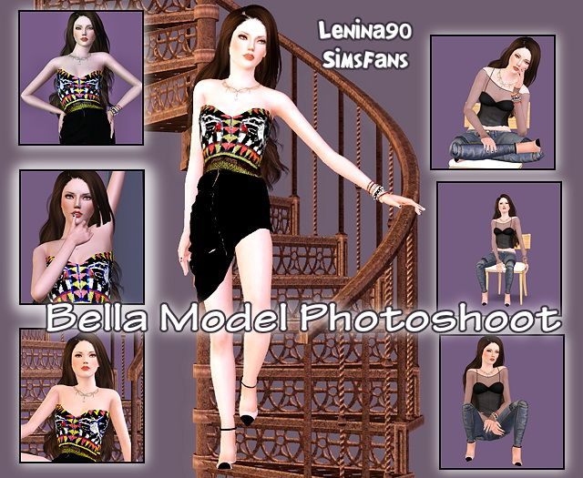 Bella Model Photoshooot poses by lenina_90 - Sims 3 Downloads CC Caboodle