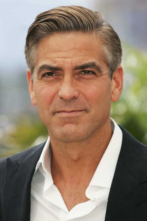 George Clooney Side Swept Hair Style Photoshop For Photographers Before And After Photoshop Photoshop Photography