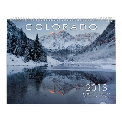 2018 Colorado Scenic Calendar Office gifts - office calendar templates