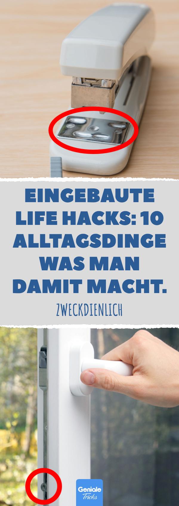 Built-in Life Hacks: 10 alltägliche Dinge, die Sie damit machen können. # Alltagsgegenstand # Büro # Leben # Hacks # Zweck