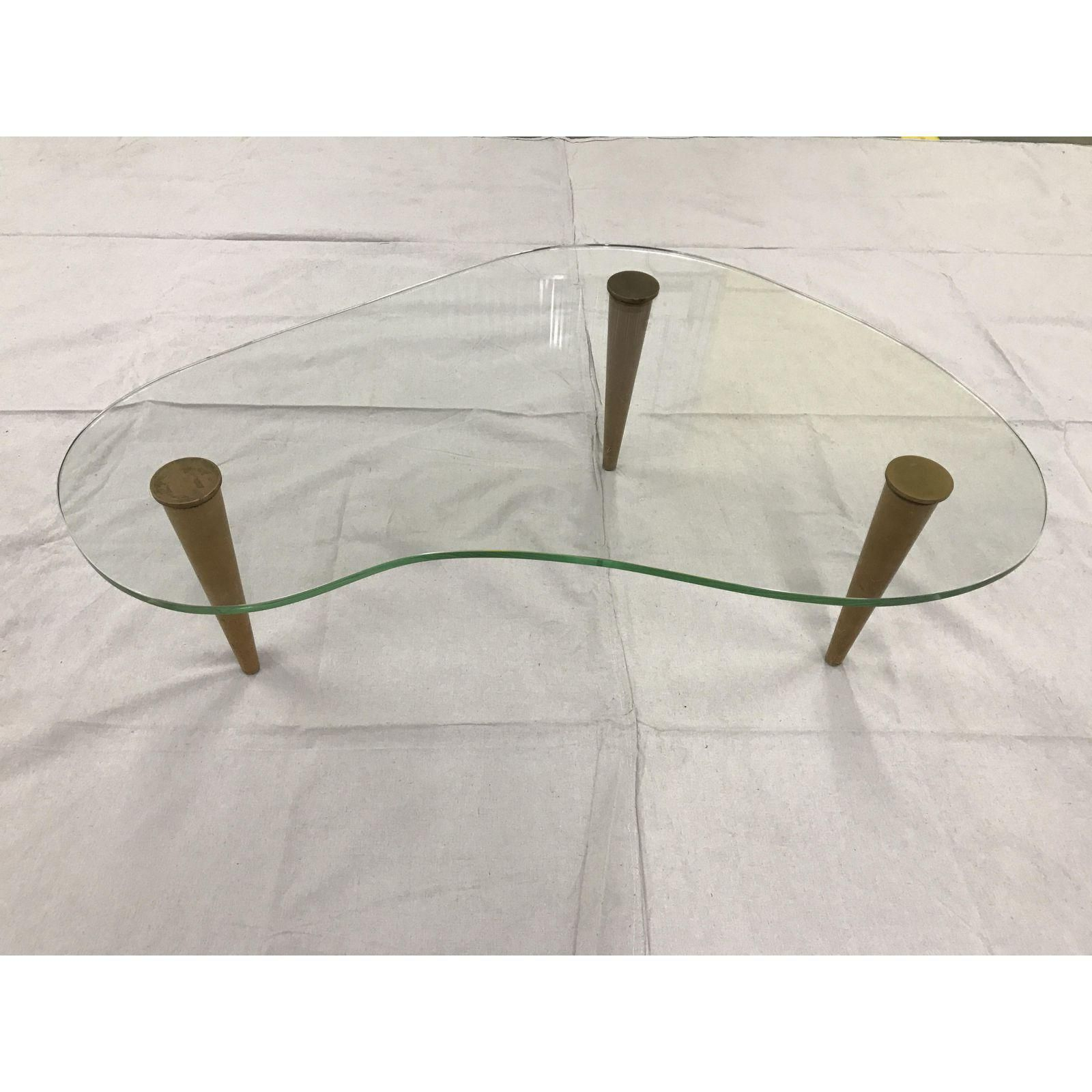 Image Of Gilbert Rohde Kidney Shaped Glass Coffee Table Coffee Table Glass Coffee Table Table [ 1600 x 1600 Pixel ]