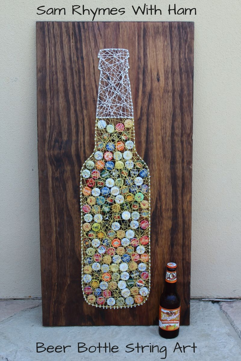 beer bottle string art tutorial pinteres