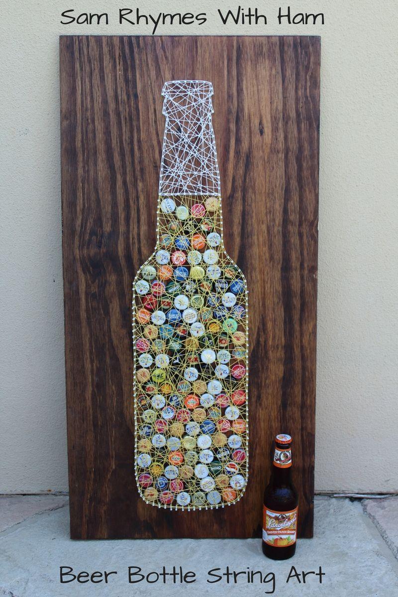 Beer Bottle String Art Tutorial Projects Strin