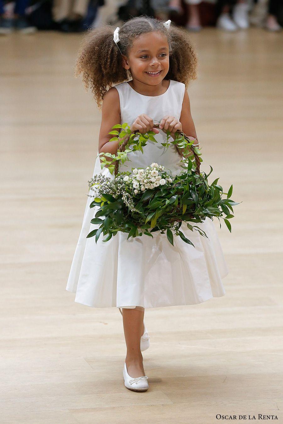 Girls wedding dress  Oscar de la Renta Spring  Wedding Dresses u New York Bridal