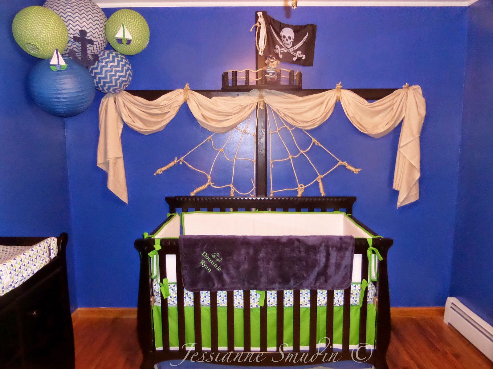 Pirate Ship Nautical Nursery! I am so proud of this and it ...