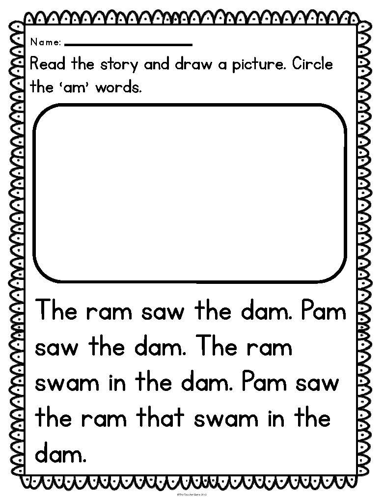 Reading Fluency Passages Cvc Word Family Kindergarten Fluency Passages Reading Fluency Passages Kindergarten Word Families [ 1012 x 782 Pixel ]