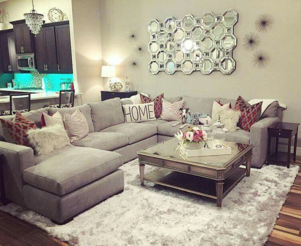 48 Comfortable Sectional Sofa For Your Living Room Matchness Com Home Family Room Apartment Decor