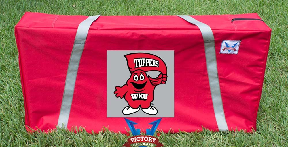 Our Western Kentucky University Hilltoppers Cornhole Storage Carrying Case. Get your custom case at victorytailgate.com