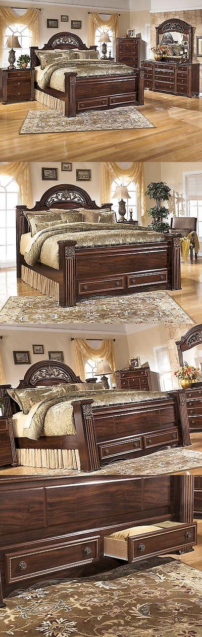 Bedding Ashley Gabriela Queen 7 Piece Bed Set W Footboard Storage