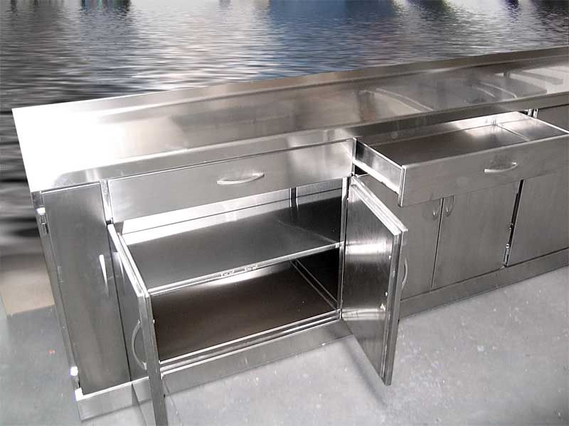 Muebles de cocina en acero inoxidable buscar con google - Mobiliario cocina industrial ...