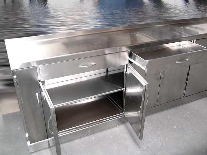 Muebles de cocina en acero inoxidable buscar con google home decor en 2019 kitchen home - Mobiliario de cocina industrial ...