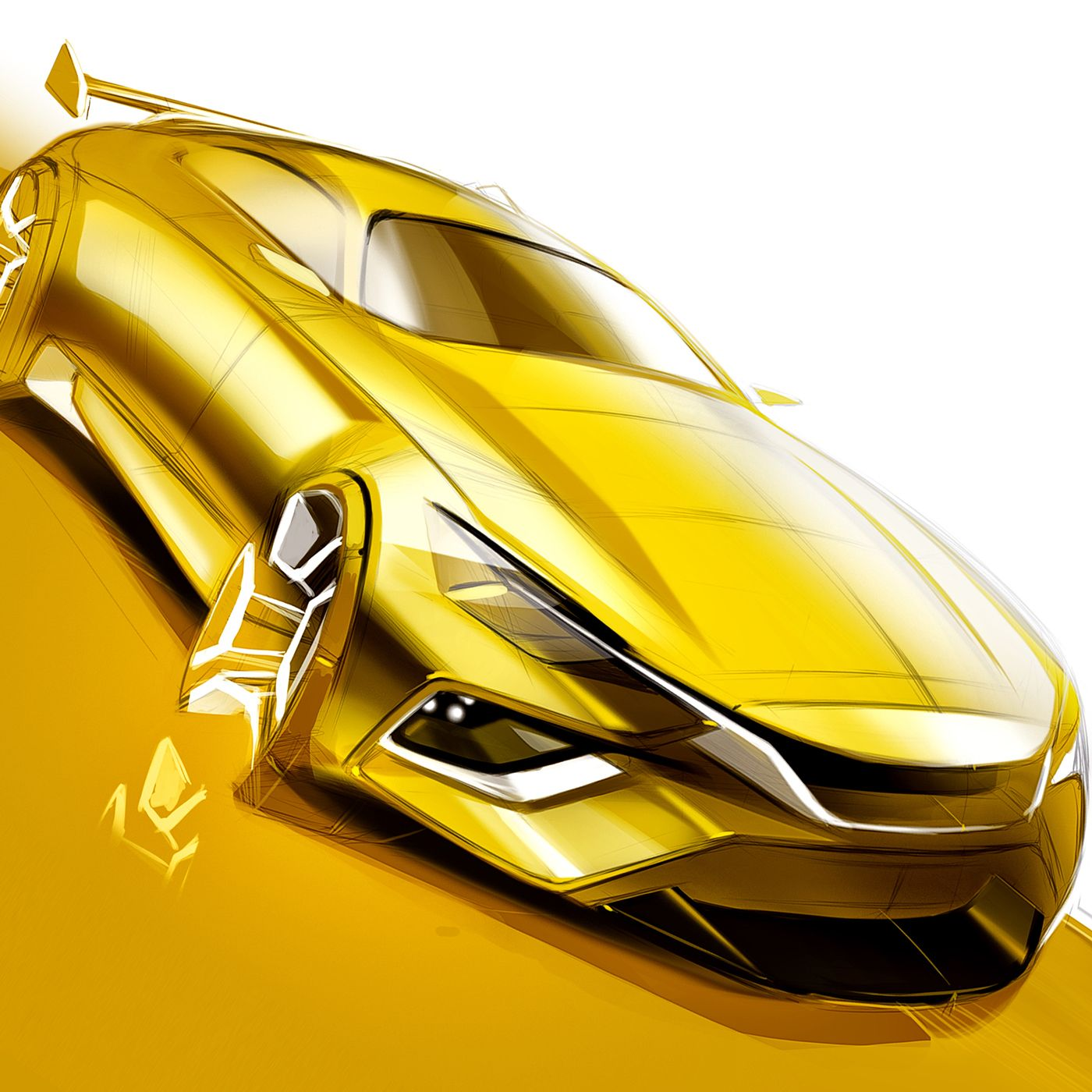 Car Drawing and Sketching Tutorial - How to Draw a Car on Behance ...