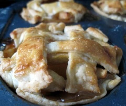 Easy Dessert. Use pre-made crust and roll out and cut to fit muffin tin.