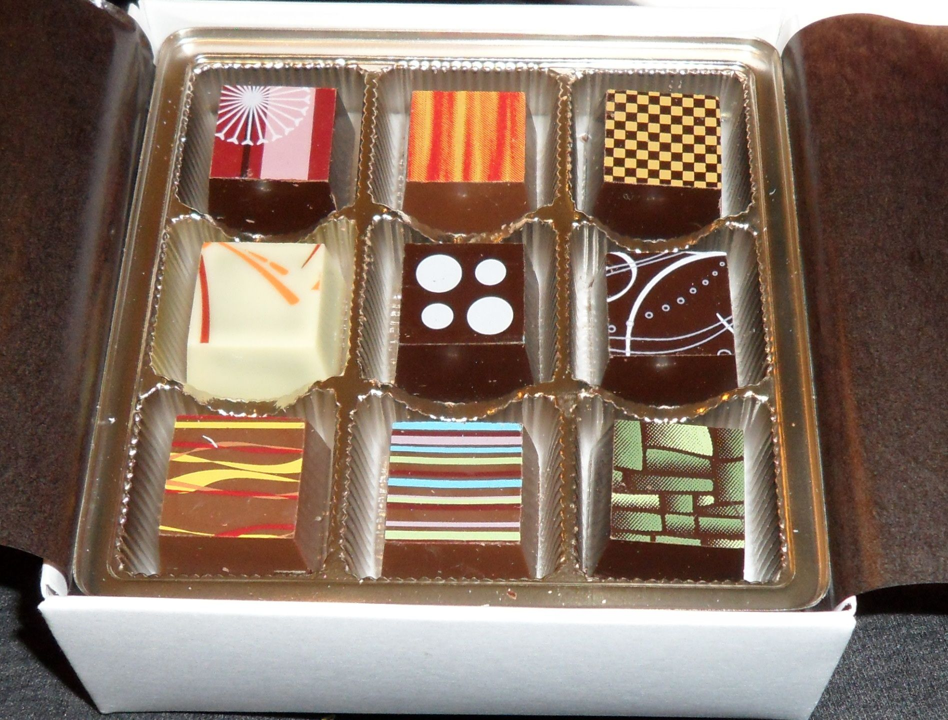 Most amazing chocolate I've ever had what my bf got me in Montreal, gorgeous designs and unique flavours.