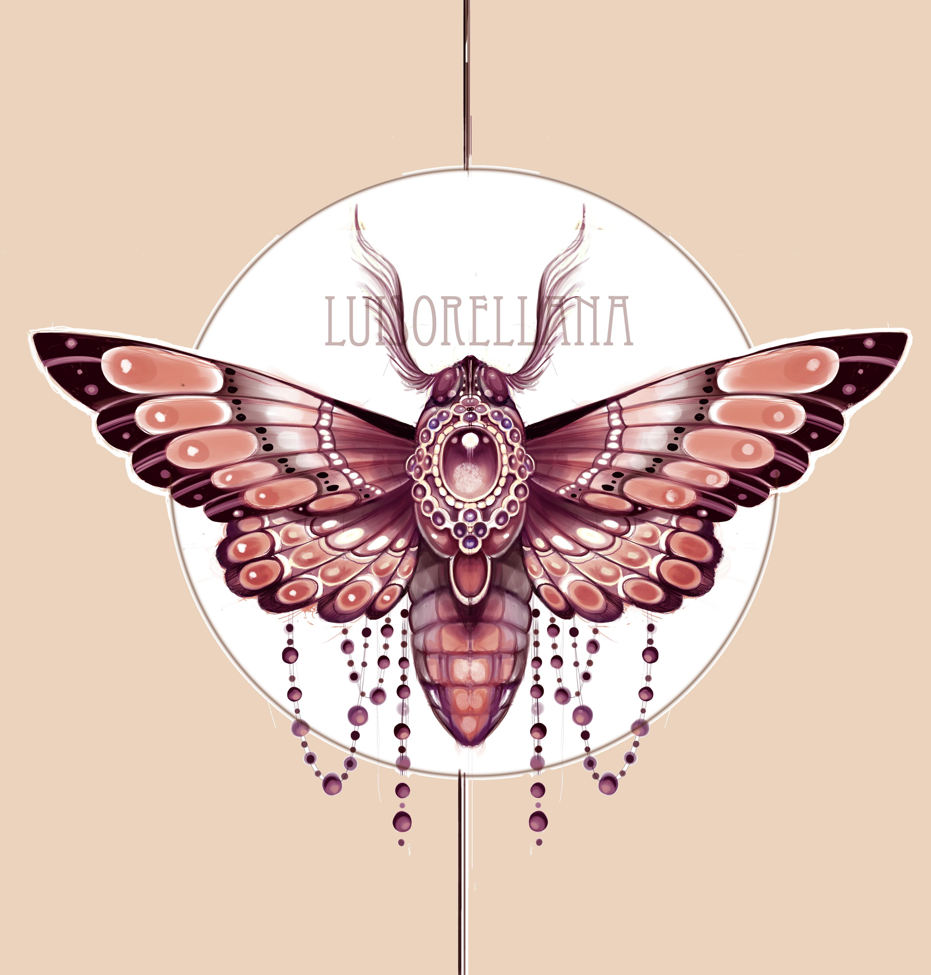 Art Nouveau Tattoo Moth Design Sketch Jugendstil Motten Tattoo Insekten Tattoo Soldat Tattoo