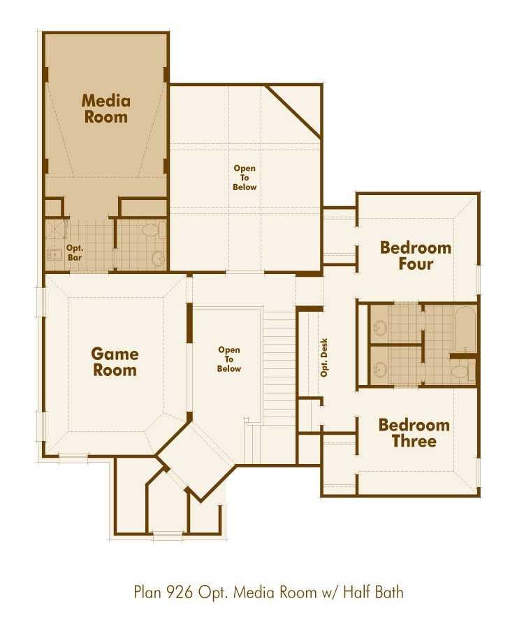 House Plans With Media Room: Floor Plan (Upstairs With Media Room