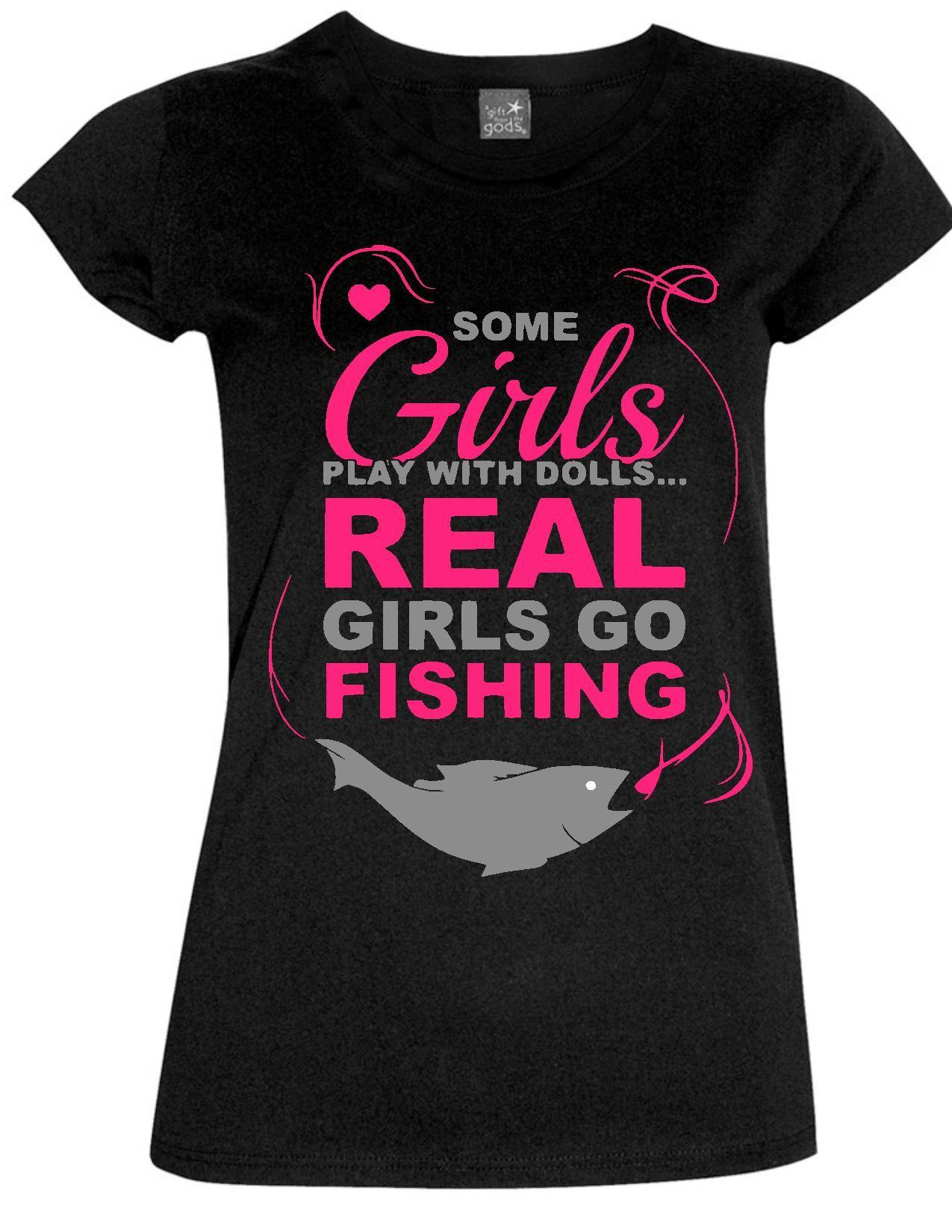 Heat Transfer Vinyl Quot Real Girls Go Fishing Quot Shirt Girl