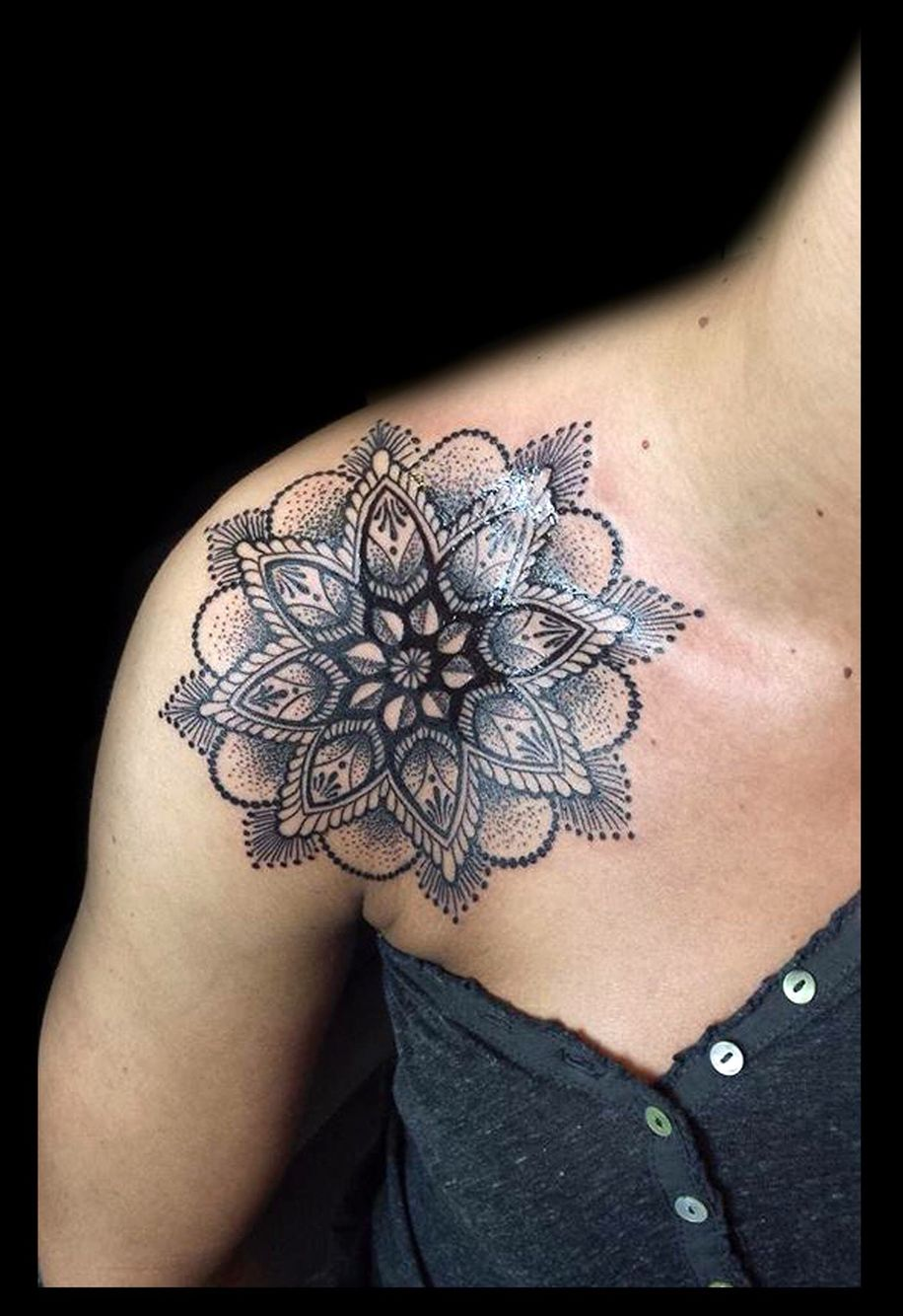 #mandala #tattoo #shoulder My tattoo :)