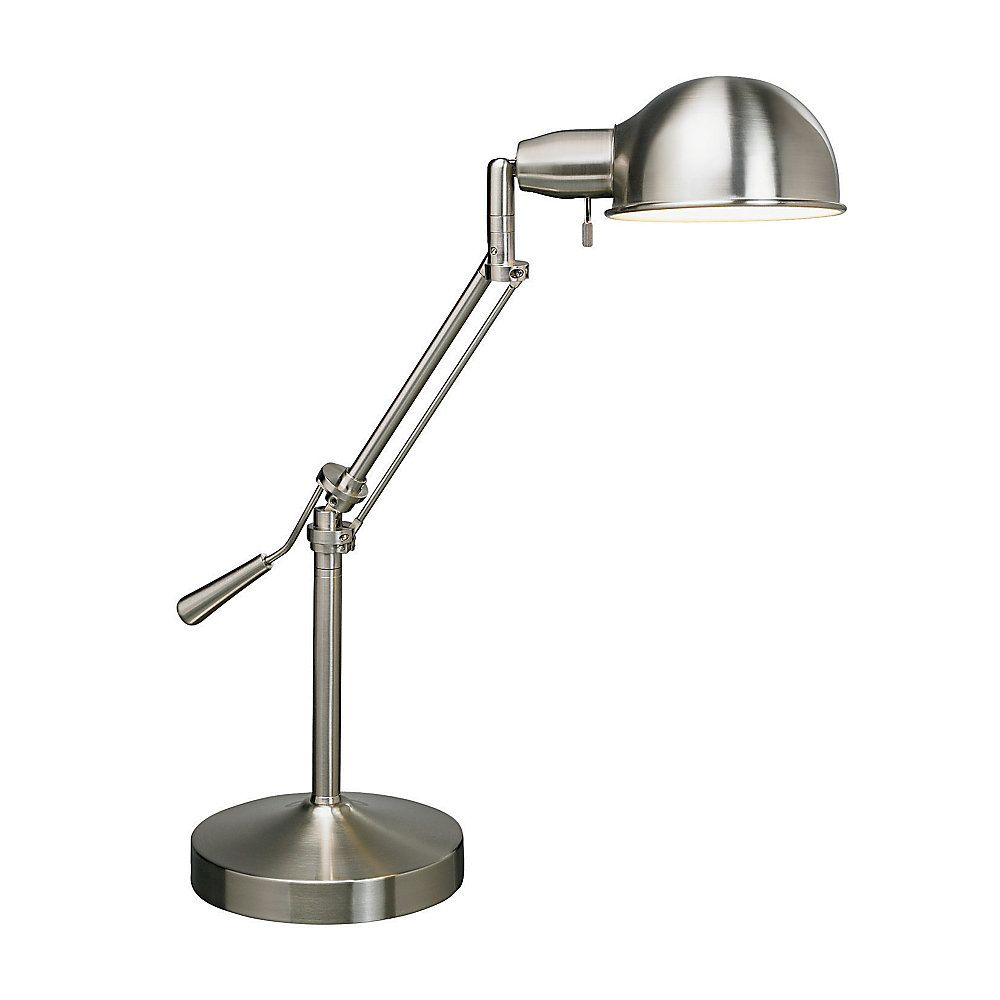 Lamp 24 H Brushed Steel By Office Depot