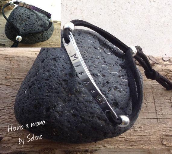 Pulsera Yax-Doble Negra, Bisutería, Pulseras, personalized bracelet