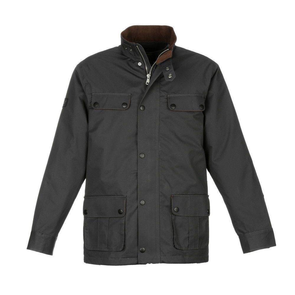 Greg Norman Field Jacket Is Waxed Cotton Water Repellent Quilted Lining Woven Shark Patch On Right Bicep Upf 50 65 Cotton Field Jacket Jackets Fashion