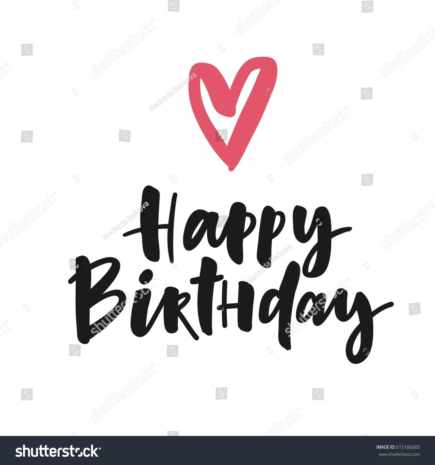 Cute Print With Lettering Happy Birthday