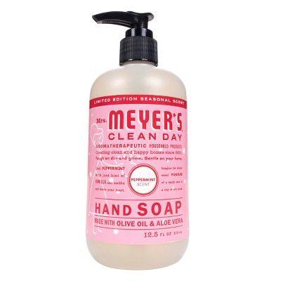 Mrs Meyer S Peppermint Liquid Hand Soap 12 5oz Liquid Hand Soap Peppermint Scent Cruelty Free Soap