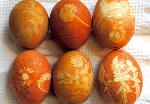 Veľkonočné vajíčka s prírodným motívom