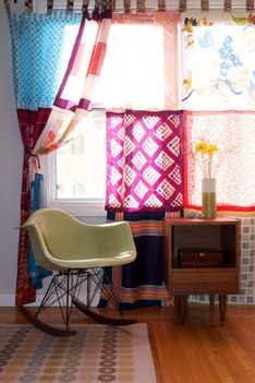 Vintage Scarf Curtains.. this could be AMAZING.
