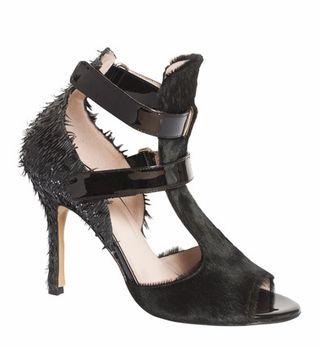 De Siena Ayla Pony Hair And Fringe Sandals
