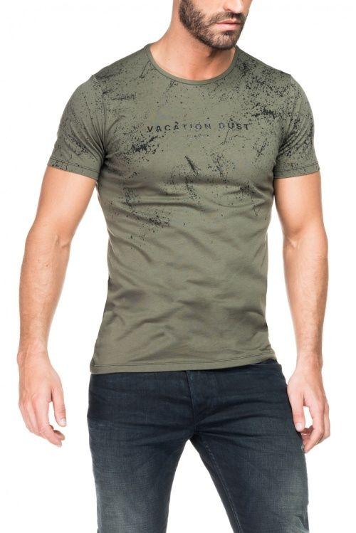 Salsa Store - T-shirt homem verde tropa  f905e6708f4