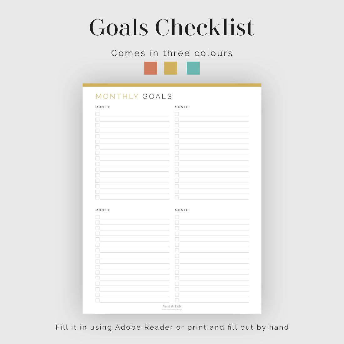 Goals Checklist