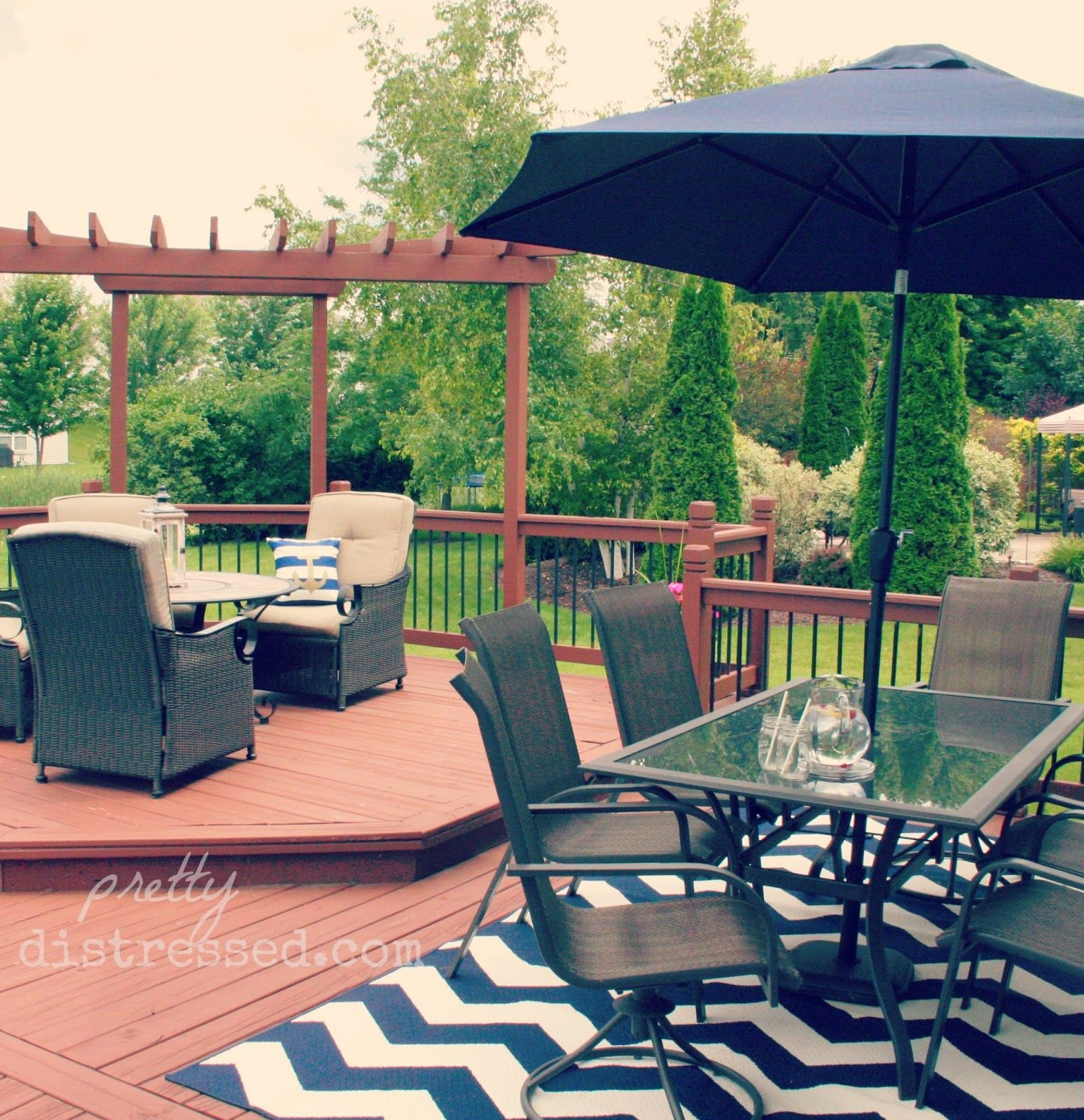 Navy and Nautical outdoor living space | Outdoor space ... on Living Spaces Outdoor Sectional id=36414