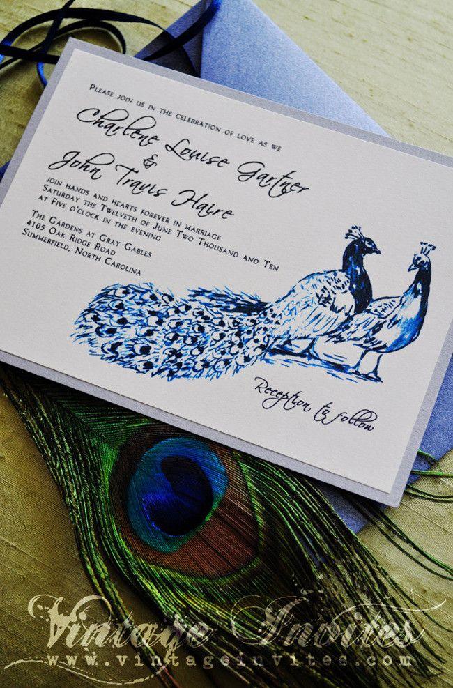 the charlene modern peacock wedding invitation - Peacock Wedding Invitations