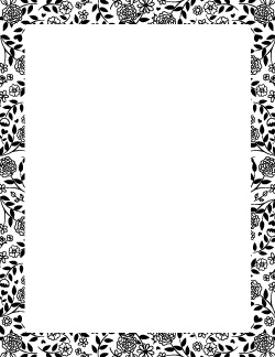 Black and White Flower Border | Page Borders | Border
