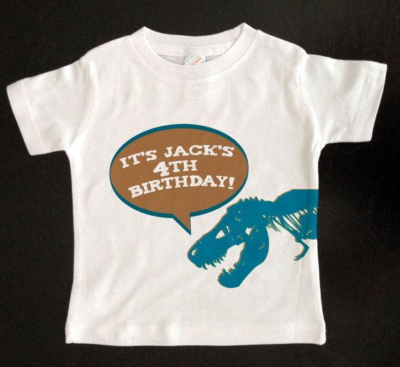 T Rex Dinosaur Birthday Shirt