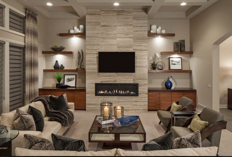 From Houzz Com Home Fireplace Family Room Design Living Room