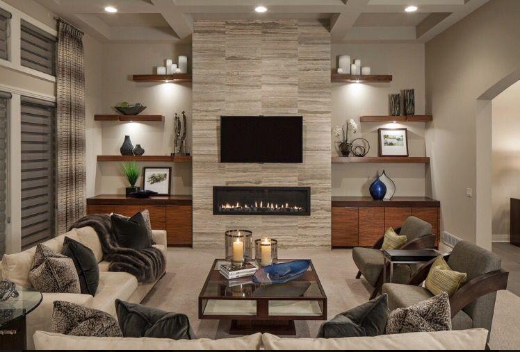 From Houzz Com Family Room Design Home Fireplace Living Room Tv Wall