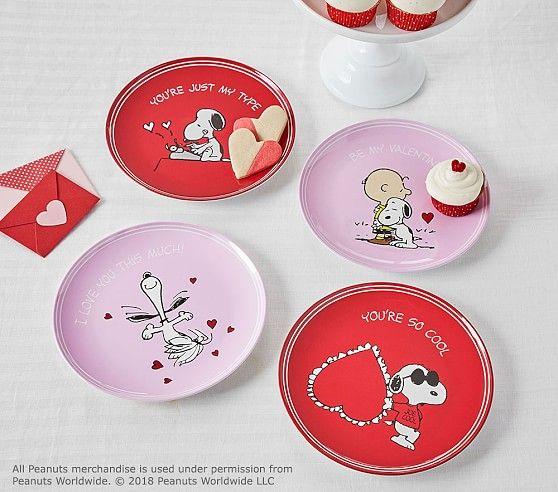 Peanuts 174 Valentine S Day Plates Valentine Plates