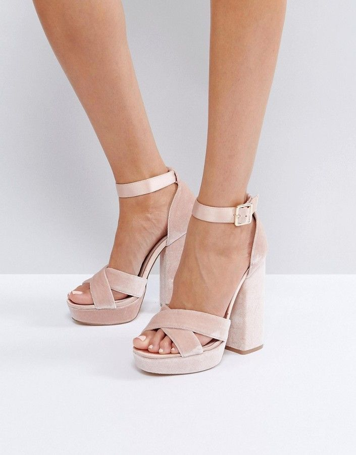 2fe79427d38b Faith Blush Velvet And Satin Platform Sandals