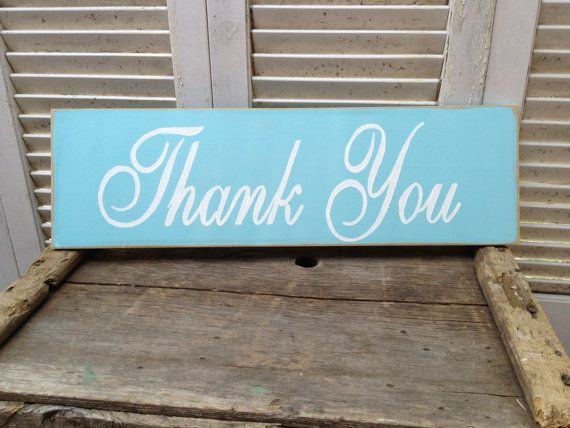 Distressed Aqua and White Thank You Wedding by SassySouthernCharm, $18.00