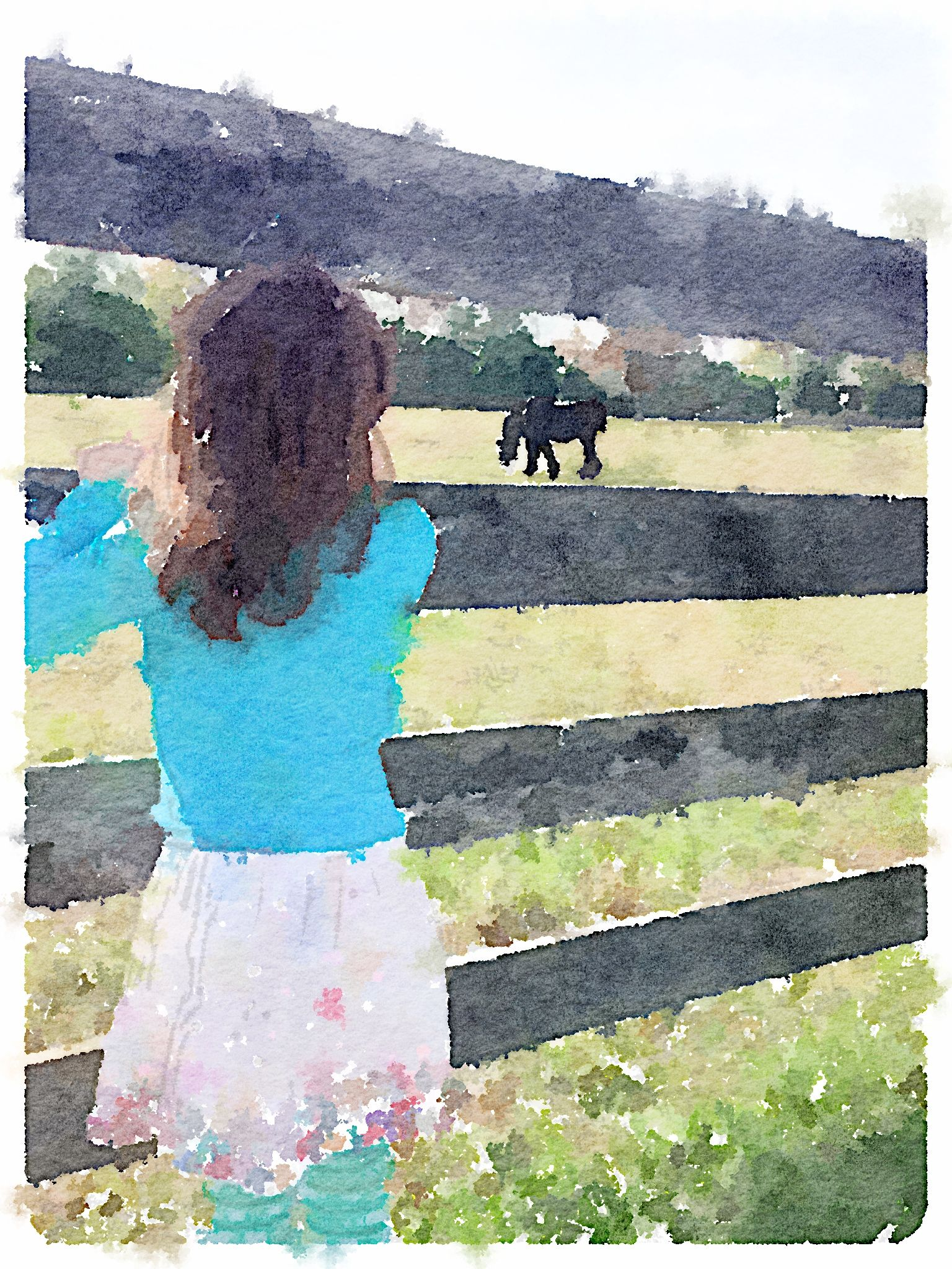 I Used The Waterlogue App To Convert A Photo To This Watercolor