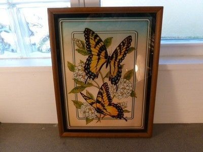 28 2013 Vintage Lulus Reverse Glass Print Butterfly Picture 12 X