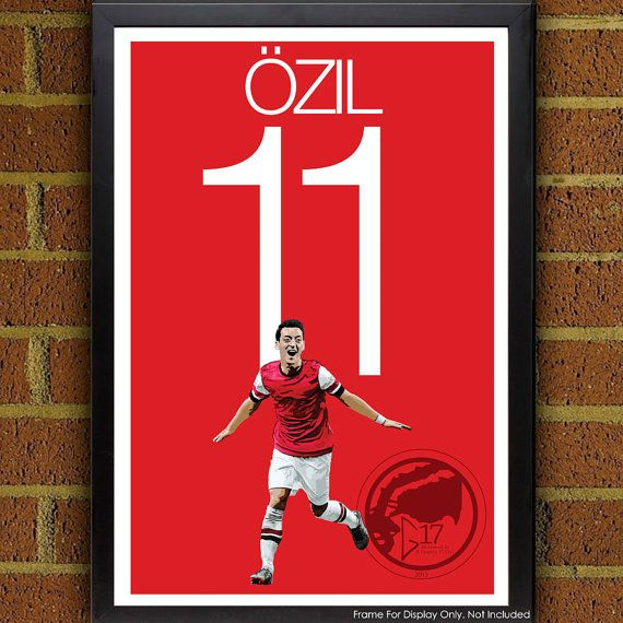 Mesut Özil 11 Arsenal Football - Soccer Poster, print, art, home