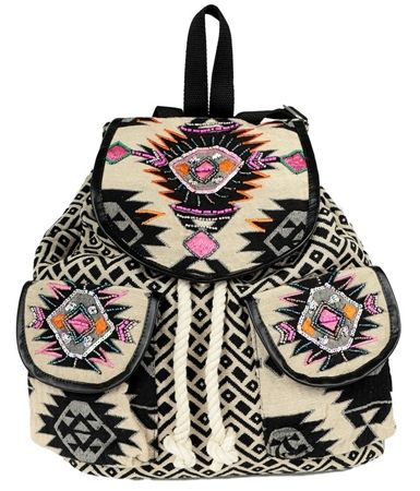 Damski Plecak Worek We Wzory Inca Boho Pa3 Zaino