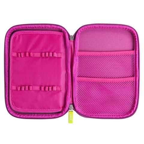 Large Molded Pencil Case  Pink is part of School Organization Pencil Case - Open And Shut Case  Keep your one of a kind creative utensils handy with our molded pencil case in pink Its hardtop outer frame prevents virtually any damage and the inside just gets better  Its got a two sided flap for your pens, pencils and highlighters, plus two mesh pockets to hold your inspiration notepad and eraser; now you're ready to rock n' roll  You buy, Yoobi gives  For every Yoobi item you purchase, a Yoobi item will be donated to a classroom in need, right here in the U S  Product Details Perfect for school, home or office Holds all your creative utensils! Molded pencil case, large Double mesh inner pocket and elastic loops to hold pens, pencil etc  Dimensions 9 1  x 6 3  x 1 5