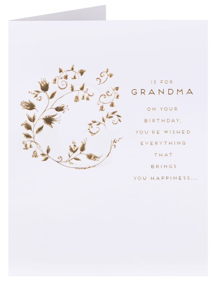 Clintons Collection G Is For Grandma Birthday Card Grandparents
