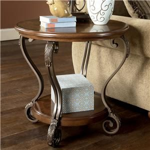 Nestor Round End Table By Signature Design Ashley